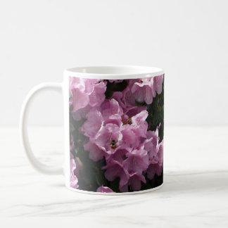 Pink Azaleas & Bee, Rhododendron Garden Flowers Classic White Coffee Mug