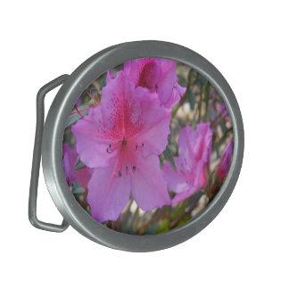 Pink Azaleas Belt Buckle