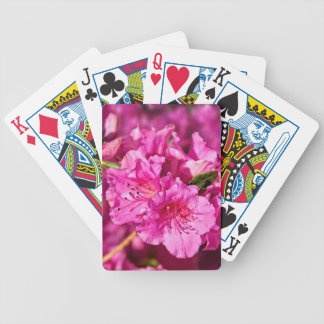 Pink Azaleas Bicycle Playing Cards