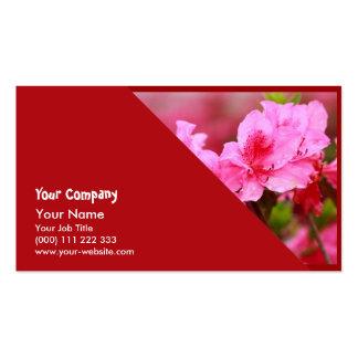 Pink Azaleas Business Card