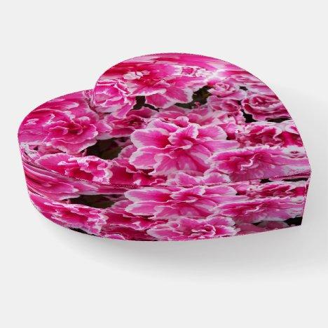 Pink Azaleas Floral Photo Paperweight