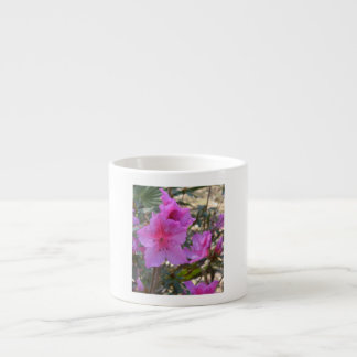 Pink Azaleas Flowers 6 Oz Ceramic Espresso Cup