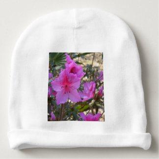 Pink Azaleas Flowers Baby Beanie
