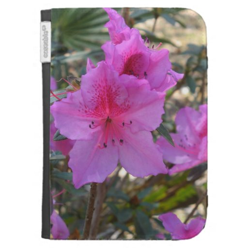 Pink Azaleas Flowers Caseable Case Kindle 3 Covers