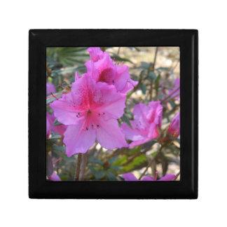 Pink Azaleas Flowers giftbox Trinket Box