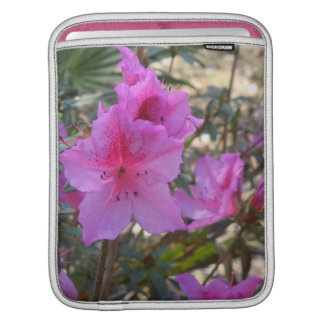 Pink Azaleas Flowers iPad Sleeve
