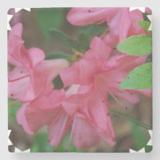 Pink Azaleas Stone Coaster