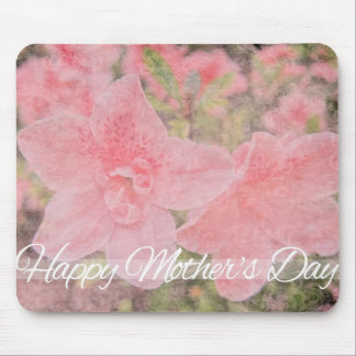 Pink Azaleas Happy Mother's Day Mouse Pad