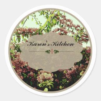 Pink Azaleas labels Classic Round Sticker