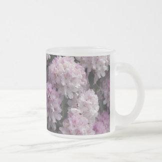 Pink Azaleas, Rhododendron Garden Flowers 10 Oz Frosted Glass Coffee Mug
