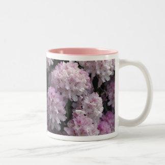 Pink Azaleas, Rhododendron Garden Flowers Two-Tone Coffee Mug