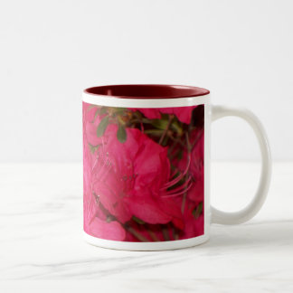 Pink Azaleas Two-Tone Coffee Mug