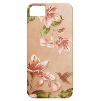 Pink Azaleas Vintage Floral on Whiskey iPhone 5 Covers
