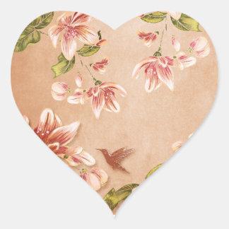 Pink Azaleas Vintage Floral on Whiskey Stickers