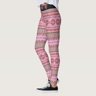 Aztec Themed (pink aztec 2 HAWT edition) Leggings