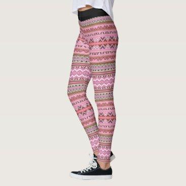 Aztec Themed (pink aztec 2) leggings