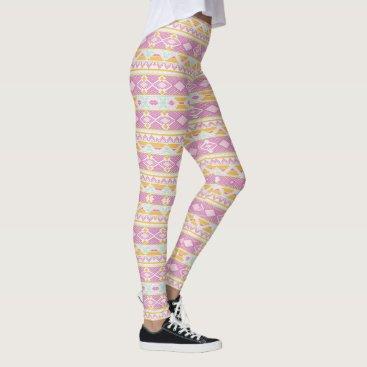 Aztec Themed (pink aztec) leggings