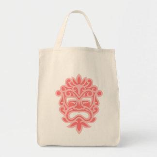 Pink Aztec Mask Tote Bag