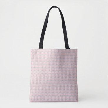 Aztec Themed pink aztec print tote bag