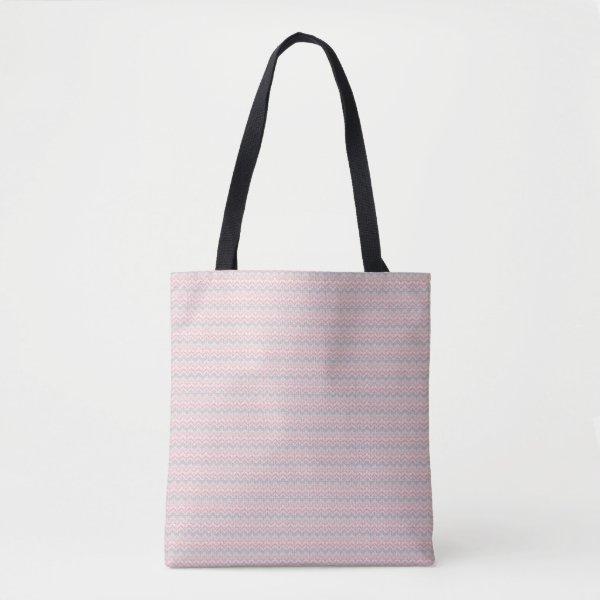 pink aztec print tote bag
