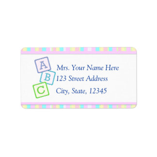 Pink Baby Address Lables Label