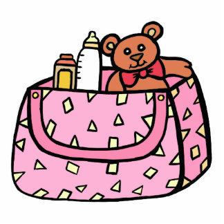 pink baby bag photo cutout