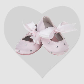 Pink Baby Ballet Shoes Sticker