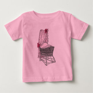 Pink Baby Bassinet Baby T-Shirt