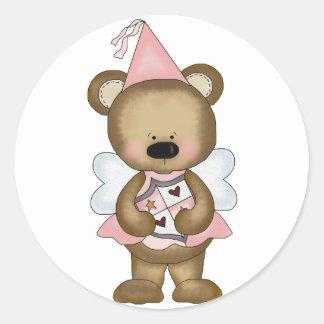 Pink Baby Bear Princess Classic Round Sticker