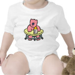 PINK BABY BEAR ROMPERS