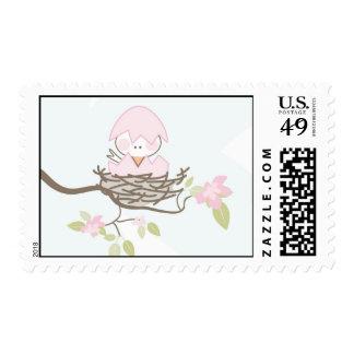 Pink Baby Bird Stamp