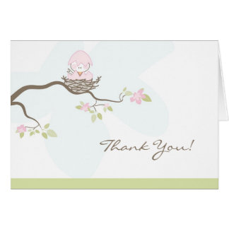 Pink Baby Bird Thank You Card