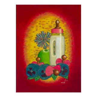 Pink Baby Bottle Posters