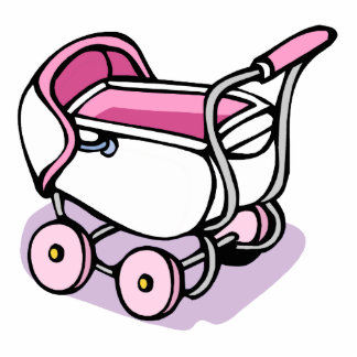 pink baby buggy cut outs