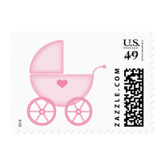 Pink Baby Buggy Stamps