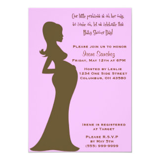 Pink Baby Bump Invitation
