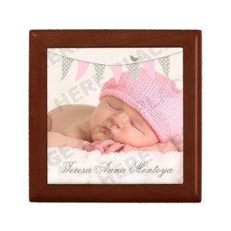 Pink Baby Bunting Photo Gift Box