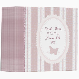 Pink Baby Butterfly Scrapbook Binder