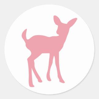 Pink Baby Deer Sticker