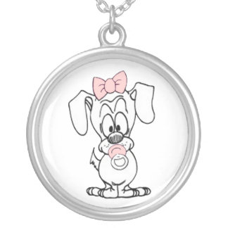 Pink Baby Dog Necklace