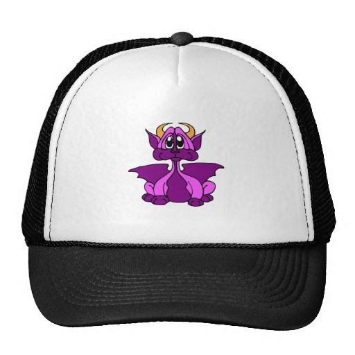 Pink Baby Dragon With Horns Trucker Hats