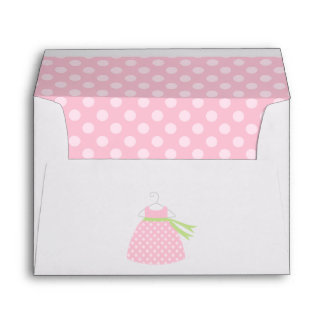 Pink Baby Dress Baby Shower Envelope