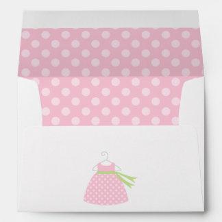 Pink Baby Dress Baby Shower Envelope