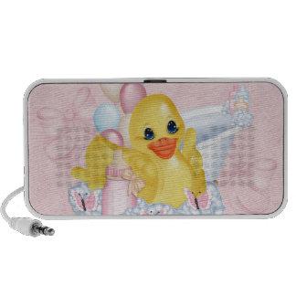 Pink Baby Duck Doodle Speaker