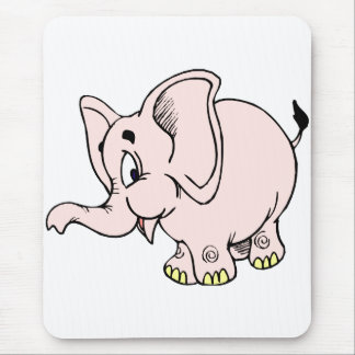 Pink baby elephant graphic.png mouse pad