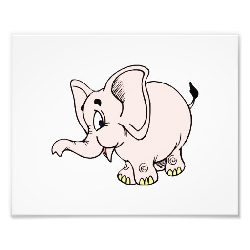 Pink baby elephant graphic.png photo print