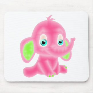 Pink Baby Elephant Mouse Pad