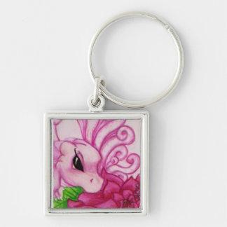 Pink Baby Fairy Dragon Keychain