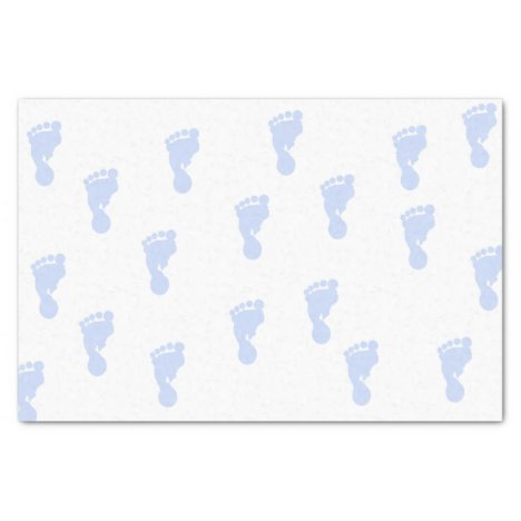 Pink Baby Footprints 10lb Tissue Paper