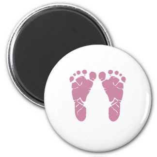 Pink baby footprints magnet